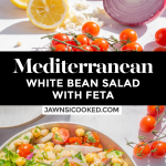 Mediterranean White Bean Salad with Feta