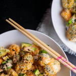 Oven Baked Vegetable Tempura Sushi Bowls