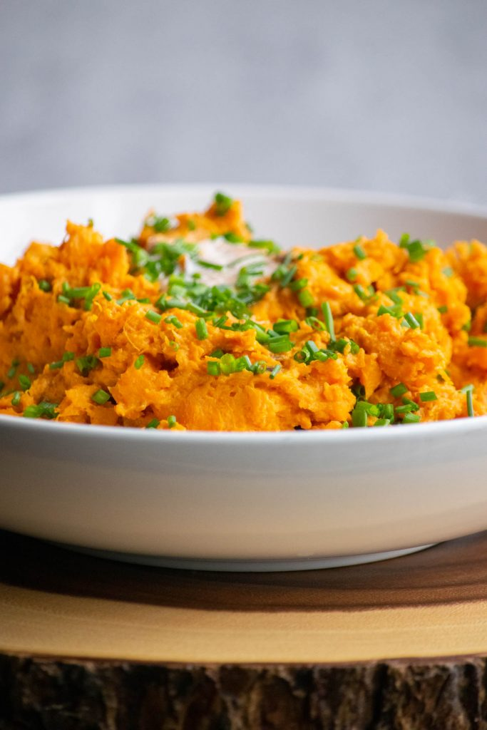 plated spicy sweet potatoes