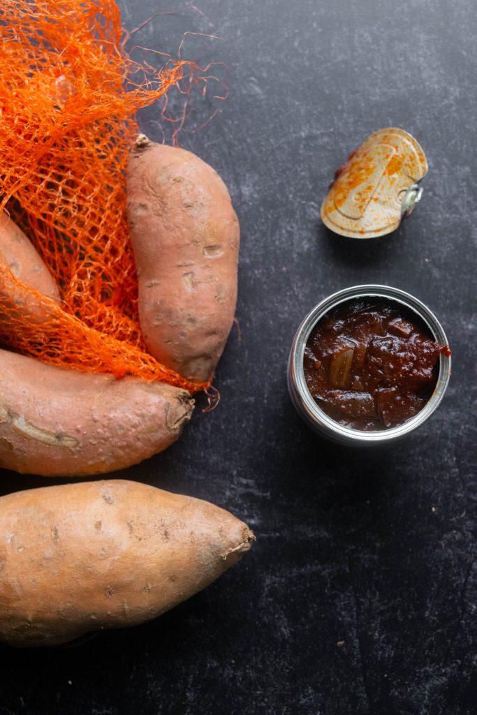 sweet potatoes, chipotles