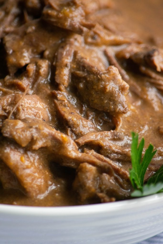 closeup chicago Italian beef