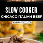slow cooker Italian Chicago Style Beef