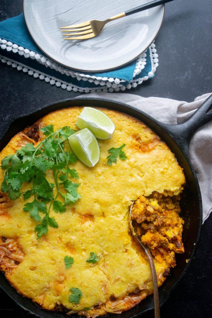 Mexican Chorizo Cornbread Casserole