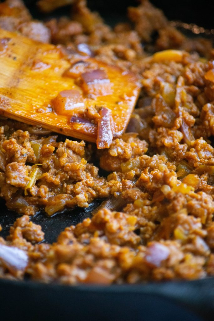 cooking the filling