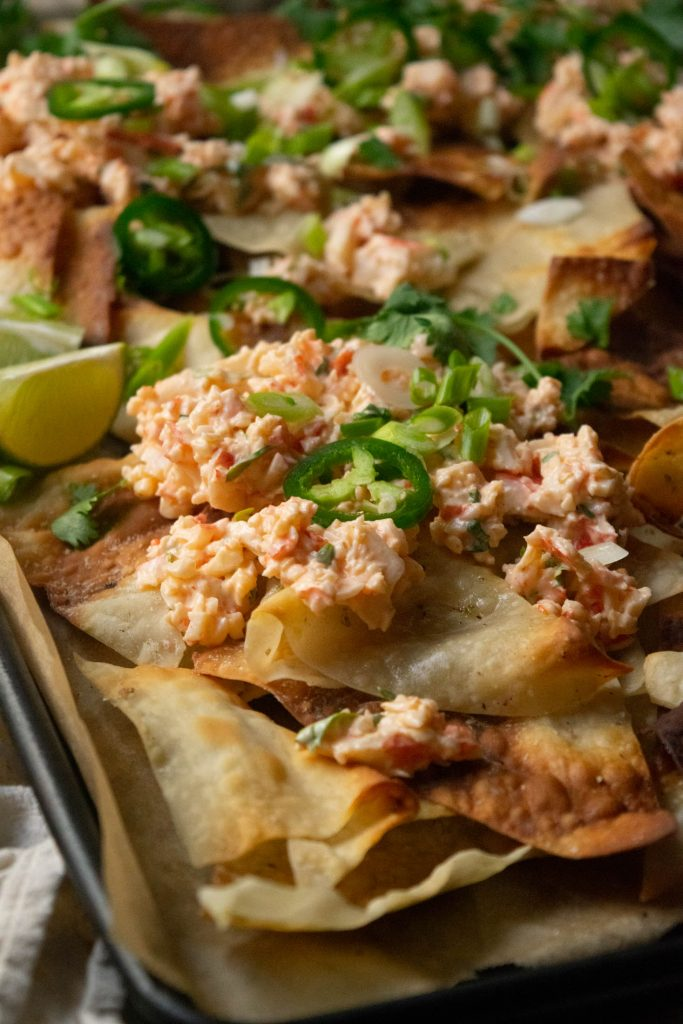 layering the nachos