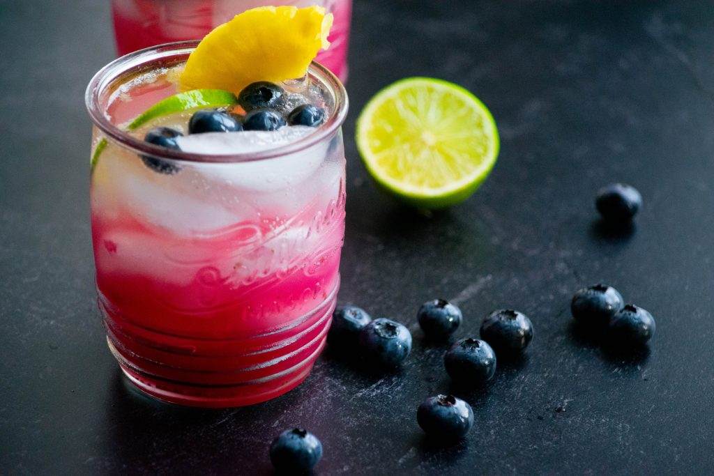 Vodka Limeade with Blueberry and Pineapple