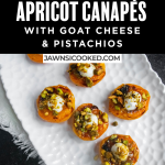 Apricot Canapés with goat cheese & Pistachios