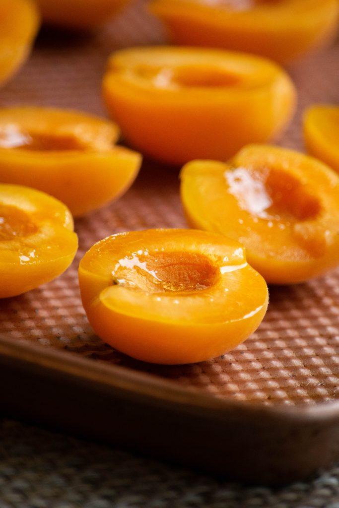 sliced fresh apricots