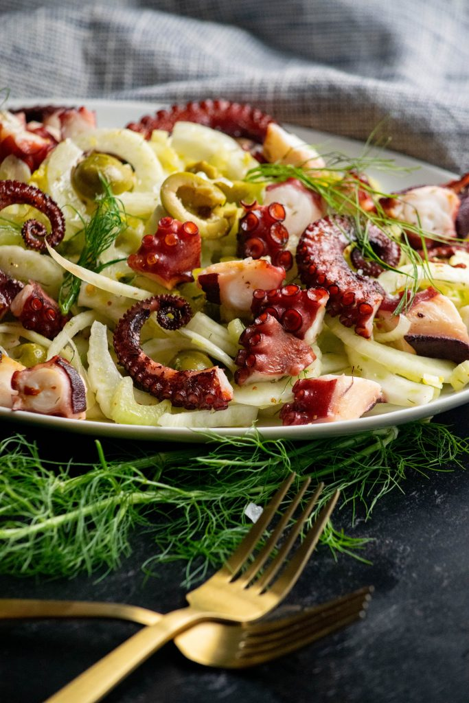 Octopus Olive and Fennel Salad