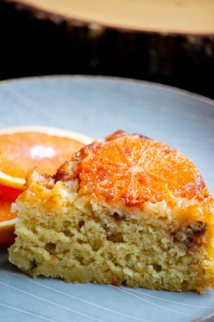 slice of orange fig cake