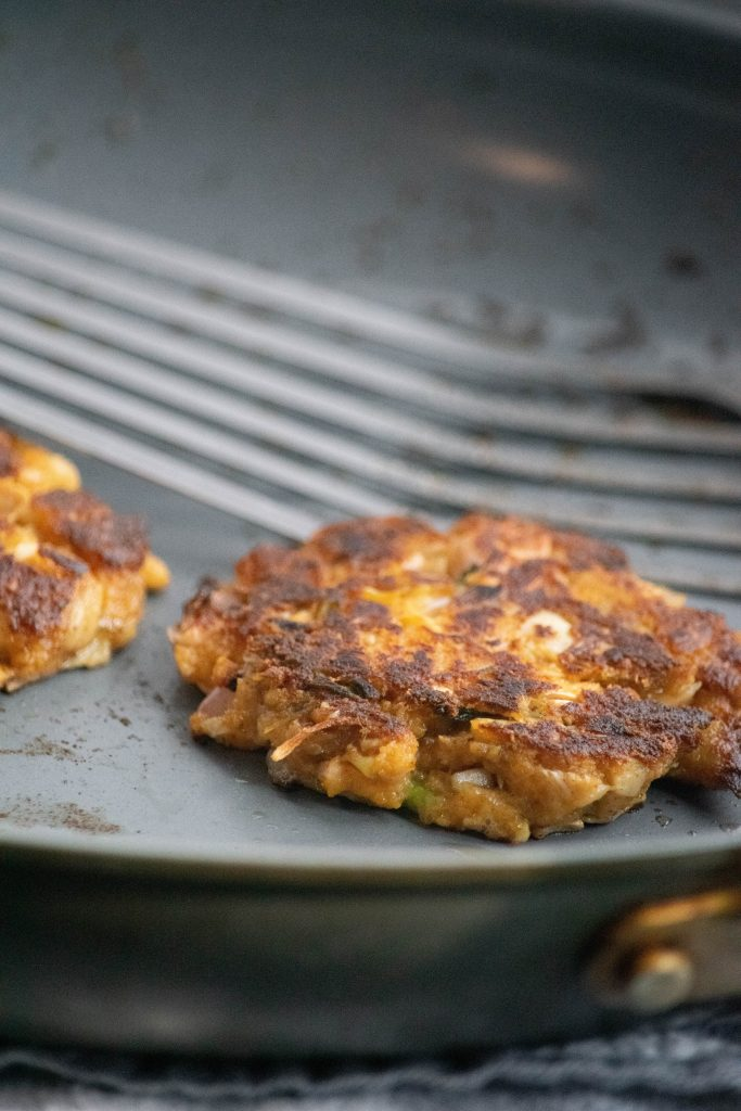 pan fried vegan crab cakes