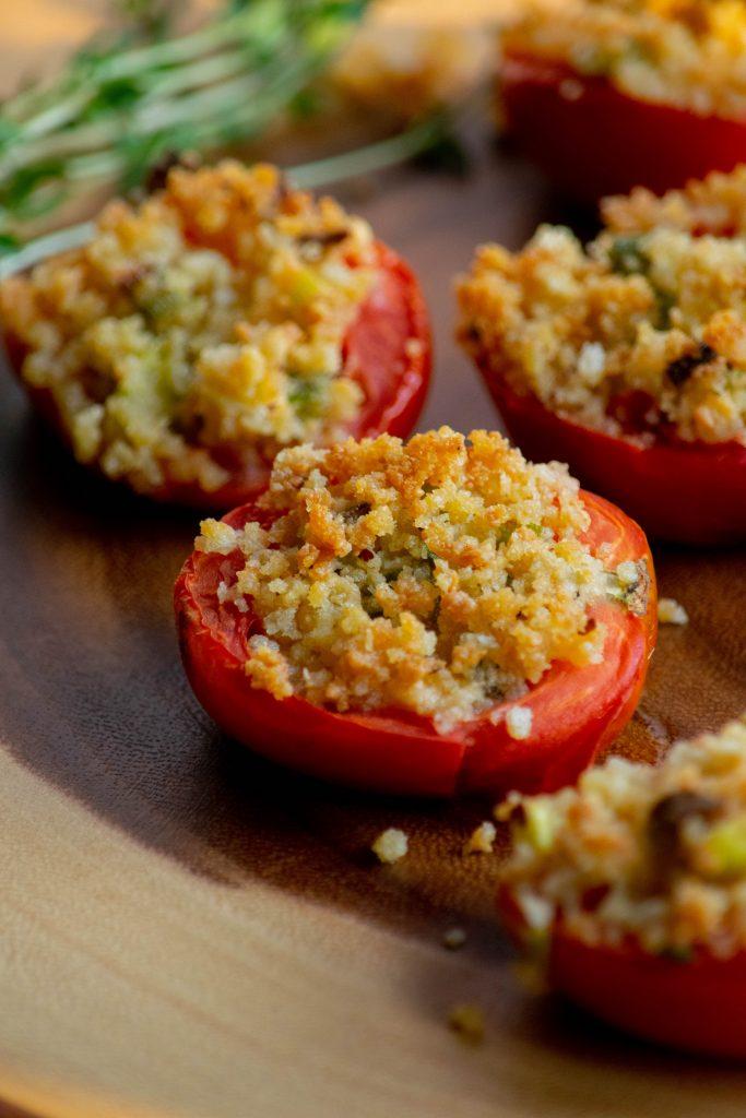 Roasted Stuffed Roma Tomatoes