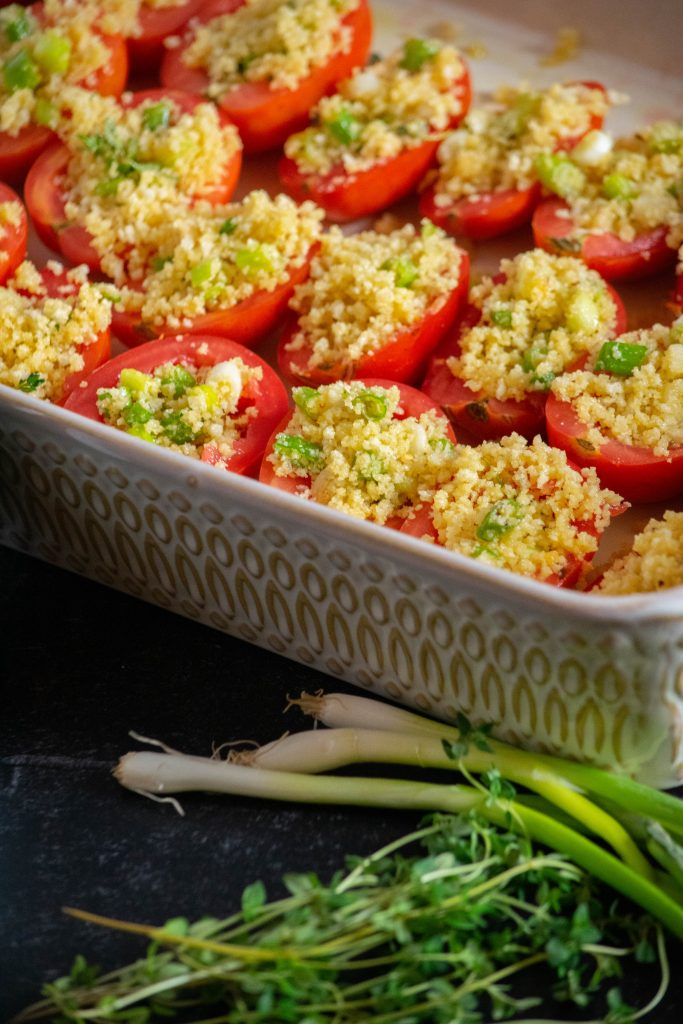 stuffing the tomatoes